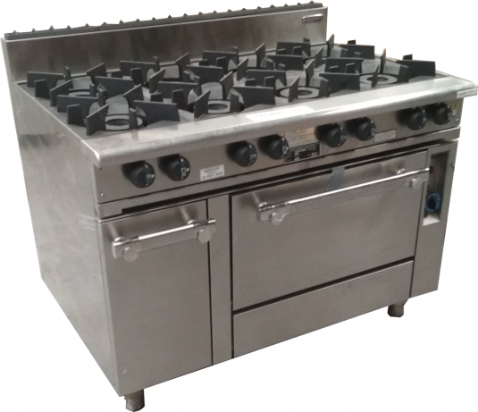 Oxford Series 8 Burner Cooktop w/ Gas Oven (on right hand side) 8BBT-OV-R
