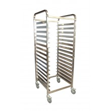 "MOBILE BAKERY RACK TROLLEY 15 TRAY (18""x29"")"