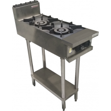 Oxford Series 2 Burner Gas Cooktop with pilot light and shelf
