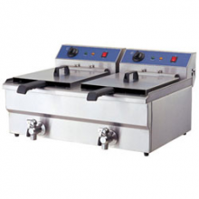 Double Tank Fryer with Oil Tap