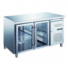Two Door Under counter refrigerator with Glass Doors GUB320-R