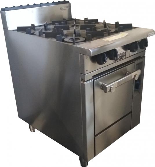 Oxford Series 4 Burner Cooktop w/ Gas Oven, 4BBT-OV-3H