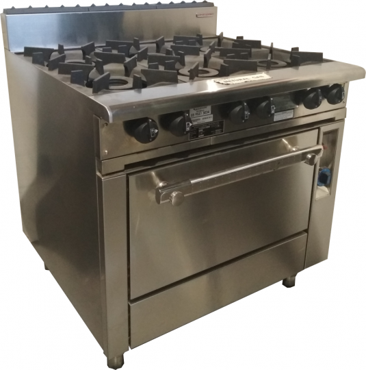 Oxford Series 6 Burner Cooktop with pilot & Gas Oven 6BBTP-OV-6H