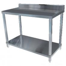 KSS 1200mm Bench w/ Shelf Underneath and Splashback - 600 Depth