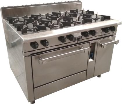 Oxford Series 8 Burner Cooktop w/ Gas Oven (on left hand side) 8BBT-OV-L